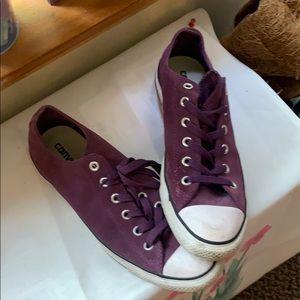 Pretty Purple Chucks women's size 10